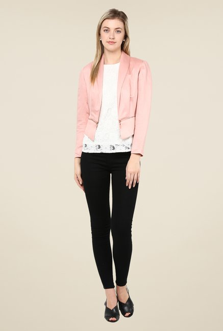 Avirate Pink Solid Jacket