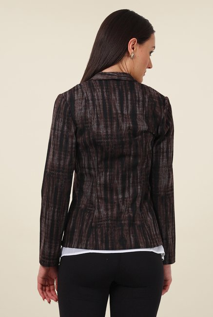 Avirate Brown Printed Jacket