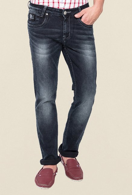 Mufti Black Washed Jeans