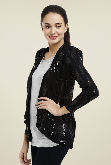 Avirate Black Embellished Shrug