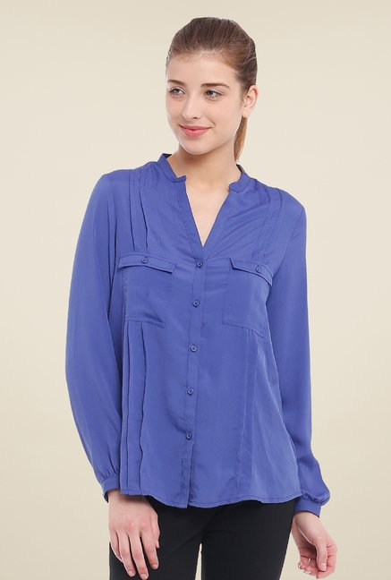 Avirate Blue Solid Shirt