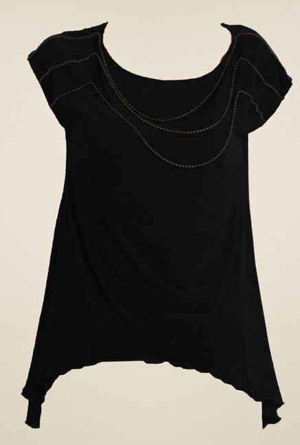 Avirate Black Solid Top
