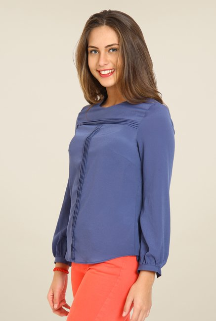 Avirate Navy Solid Top