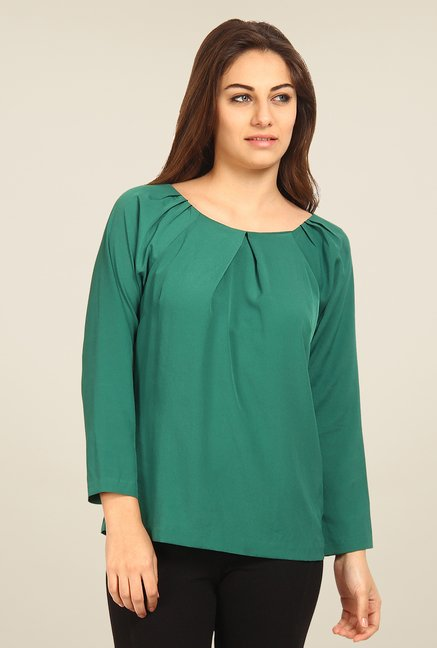 Avirate Green Solid Top