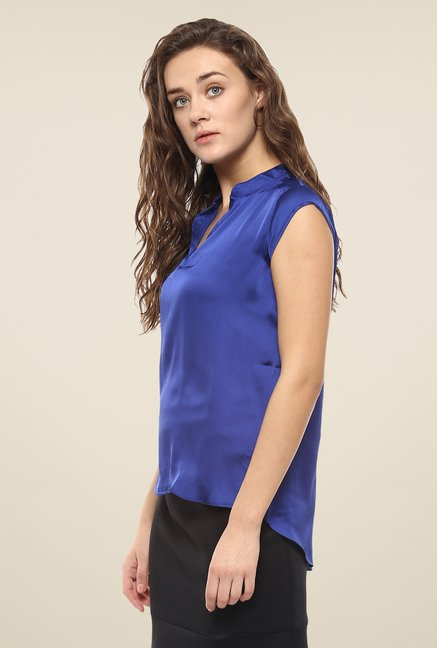 Avirate Blue Solid Top