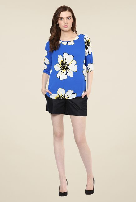 Avirate Blue Floral Printed Top