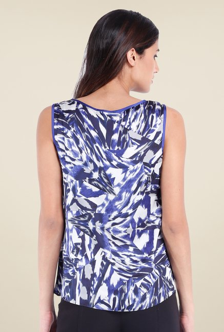 Avirate Blue Printed Top