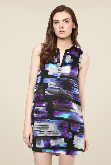 Avirate Blue Print Shift Dress
