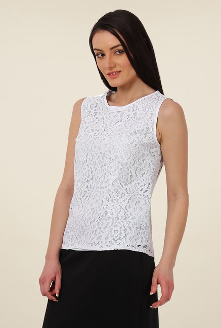 Avirate White Lace Top