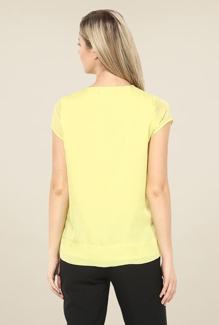 Avirate Yellow Solid Top