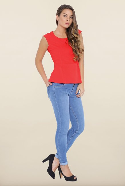 Kraus Red Sleeveless Top