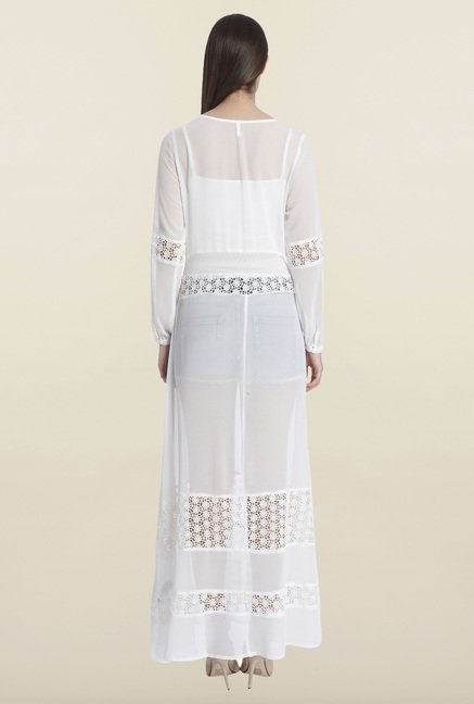 Only White Solid Maxi Dress