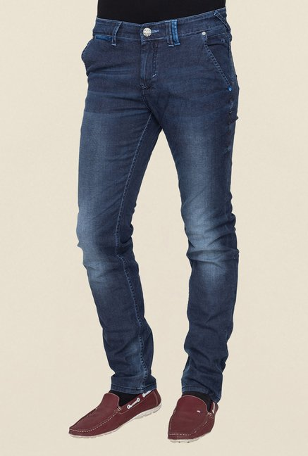 Mufti Navy Washed Jeans