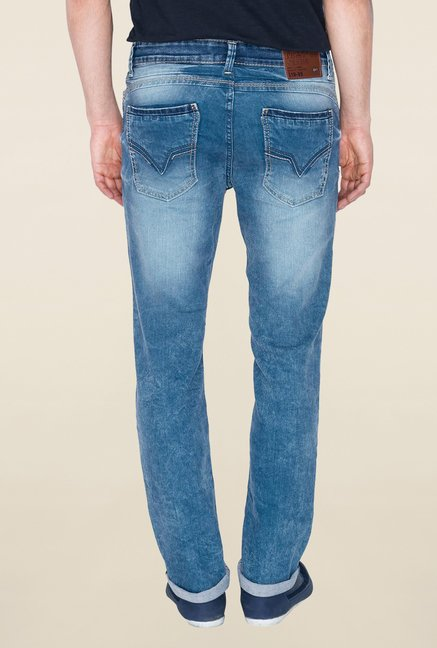 Mufti Blue Washed Jeans