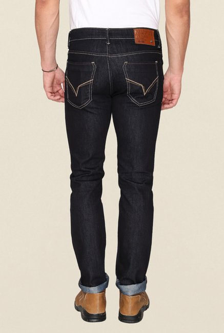 Mufti Black Rinse Washed Jeans