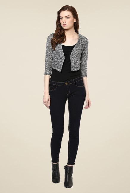 Avirate Grey Woven Shrug