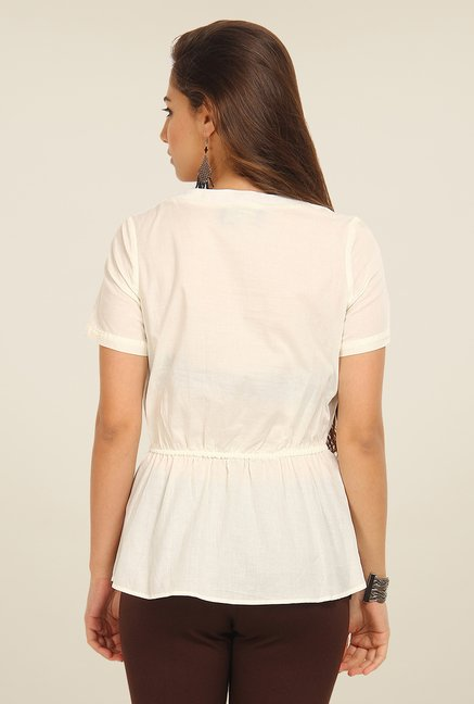 Avirate Off White Solid Top