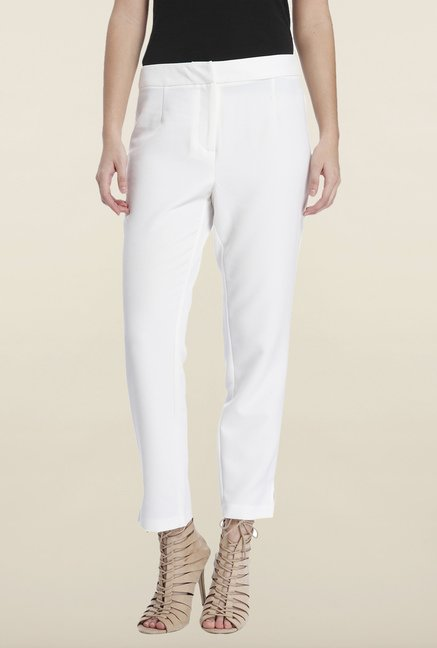 Only White Solid Casual Trouser
