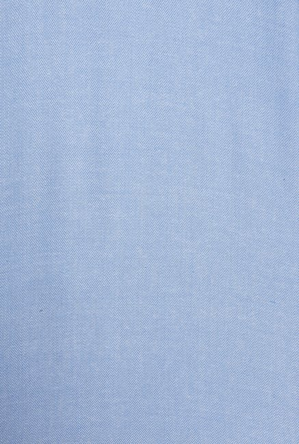 Only Light Blue Solid Casual Shirt