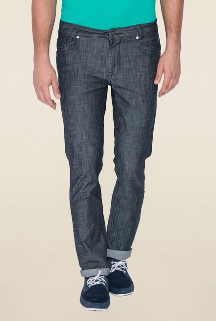 Mufti Grey Rinse Washed Slim Fit Jeans