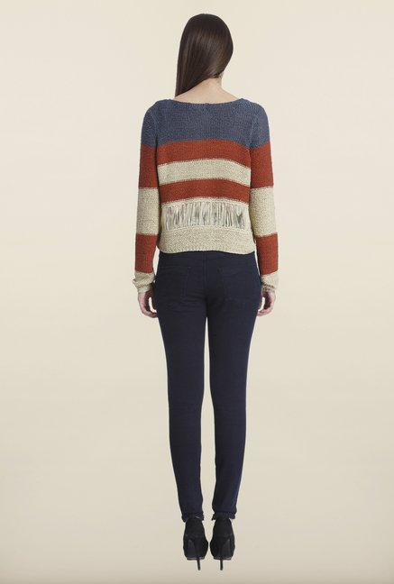 Only Beige Striped Sweater