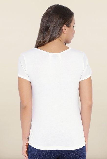 Kraus White Graphic Print T-Shirt