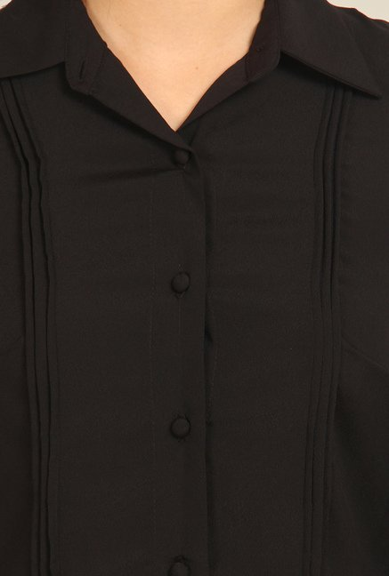 Avirate Black Solid Shirt