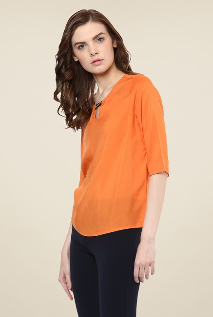 Avirate Orange Solid Top