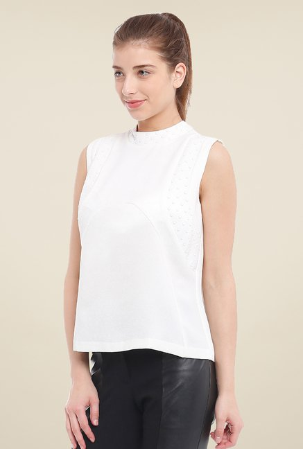 Avirate White Solid Top