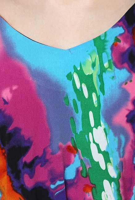 Avirate Multicolor Print Shift Dress