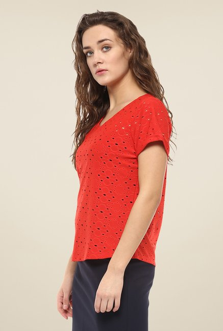 Avirate Red Solid Top