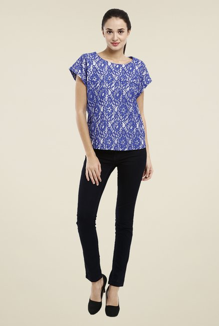 Avirate Blue Lace Top