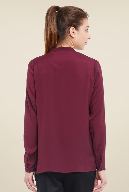 Avirate Maroon Solid Top