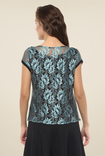 Avirate Blue Crochet Top