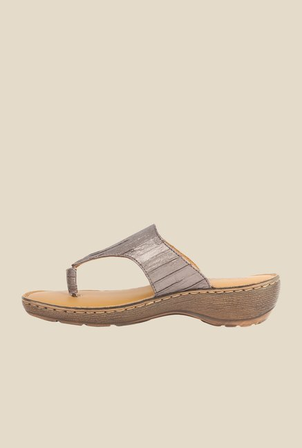 La Briza Bronze Slide Sandals