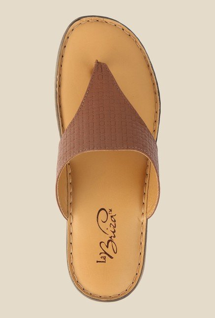 La Briza Brown Slide Sandals