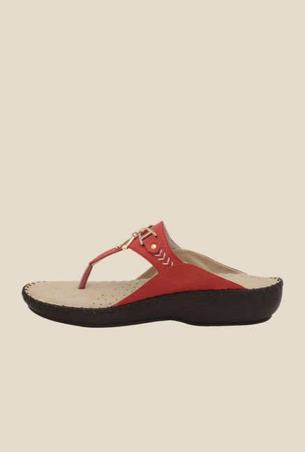 La Briza Red Thong Sandals