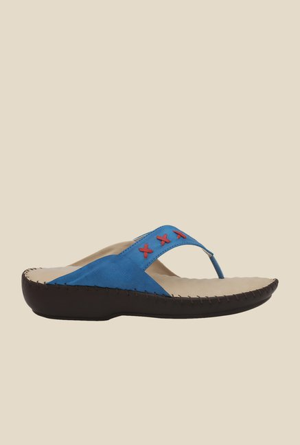 La Briza Blue Slide Sandals
