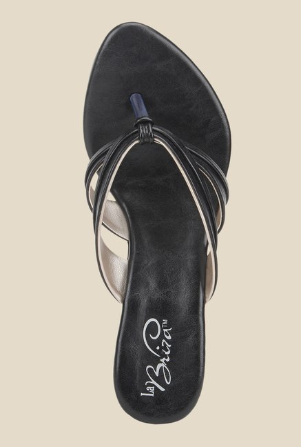 La Briza Black Slide Wedges