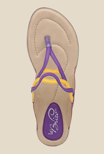 La Briza Purple Flat Thong Sandals