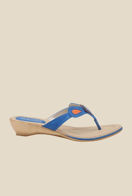 La Briza Blue Thong Sandals