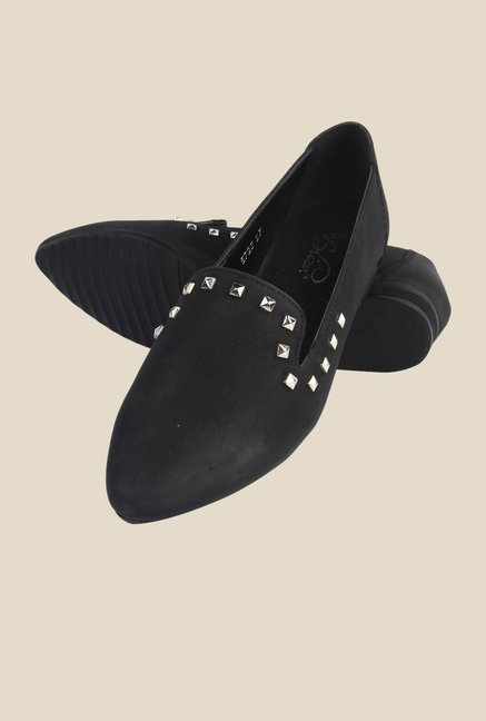 La Briza Black Leather Shoe