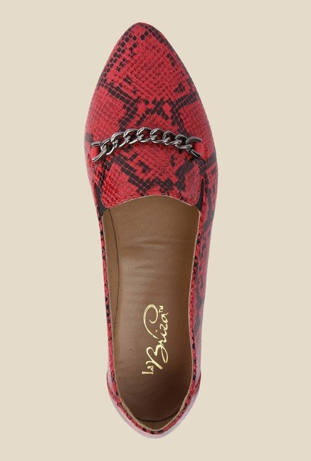 La Briza Red Leather Shoe