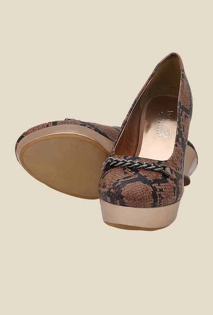 La Briza Brown Pump Leather Shoe