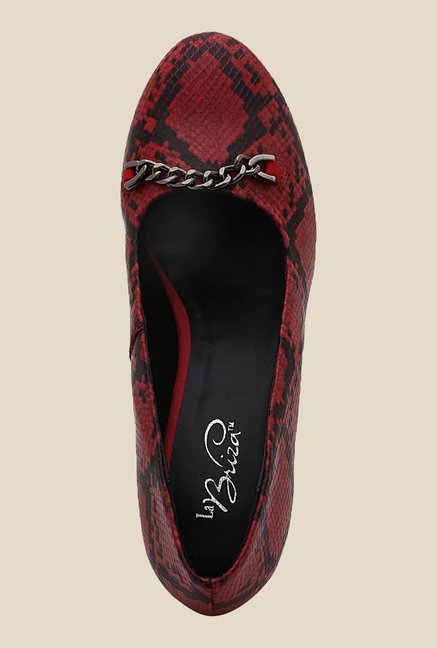 La Briza Red Pump Leather Shoe