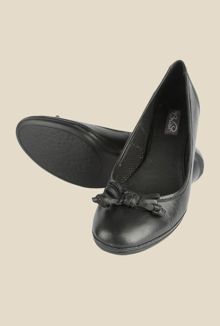 La Briza Black Pump Leather Shoe