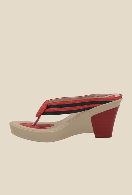 La Briza Red Thong Wedges