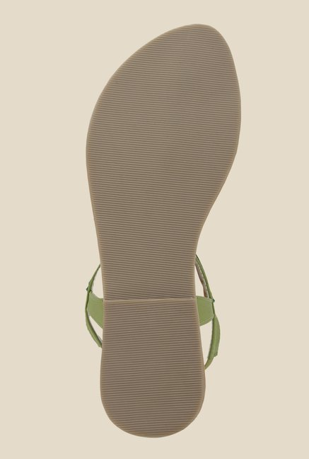 La Briza Green Back Strap Sandals