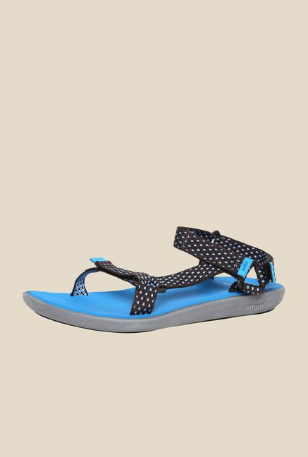Puma Bow Tape Limestone & Blue Floater Sandals
