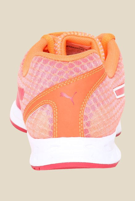 Puma Burst Wns Fluo Peach & Red Running Shoes